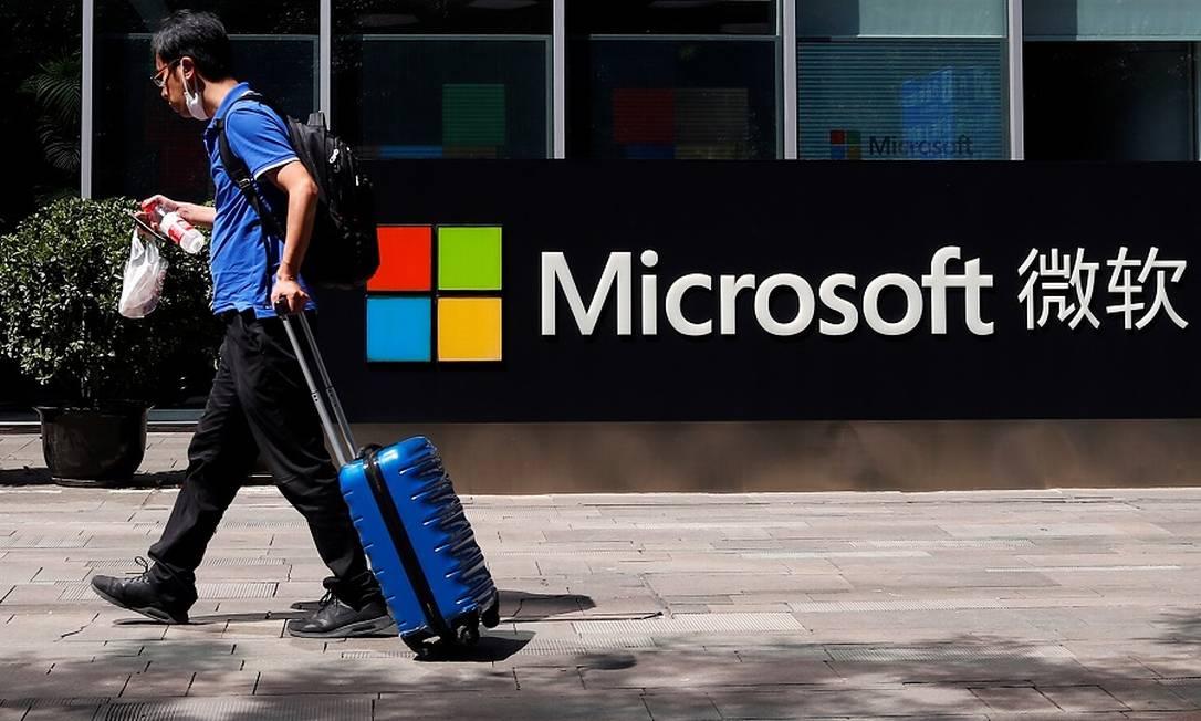 Microsoft na China: de olho no TikTok. Foto: THOMAS PETER / REUTERS