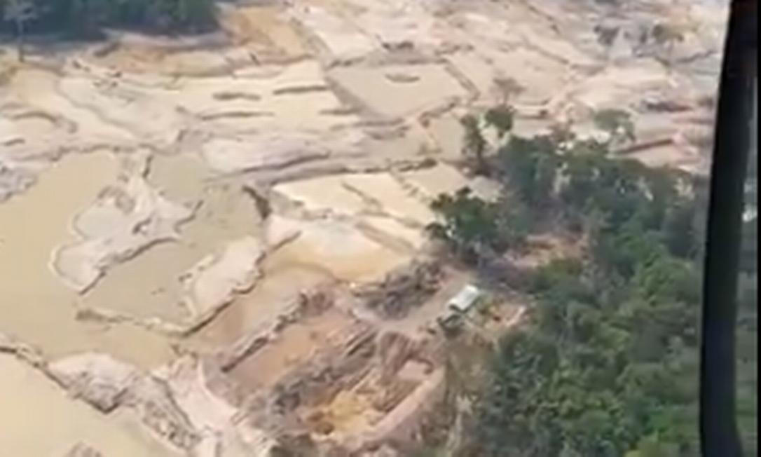 Área de garimpo do Pará onde a fiscalização foi suspensa Foto: Reprodução/Rede social