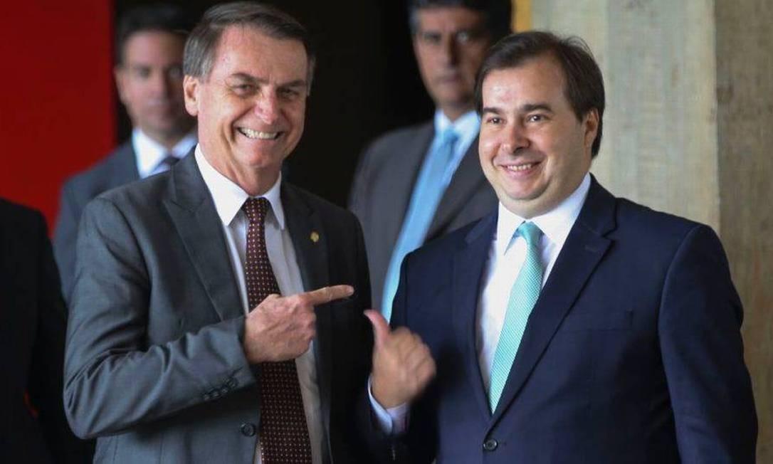 Jair Bolsonaro e Rodrigo Maia Foto: Antonio Cruz/Agência Brasil