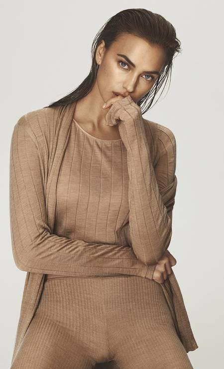 Irina Shayk em campanha de pijamas Foto: Divulgação