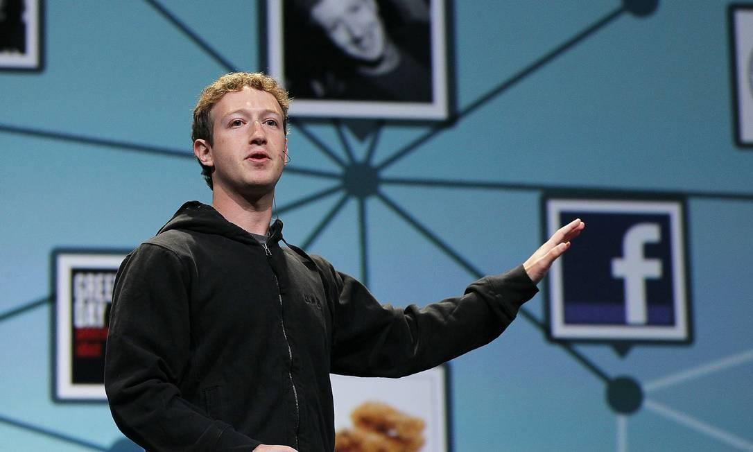 O fundador do Facebook, Mark Zuckerberg, em conferência nos EUA Foto: Getty Images