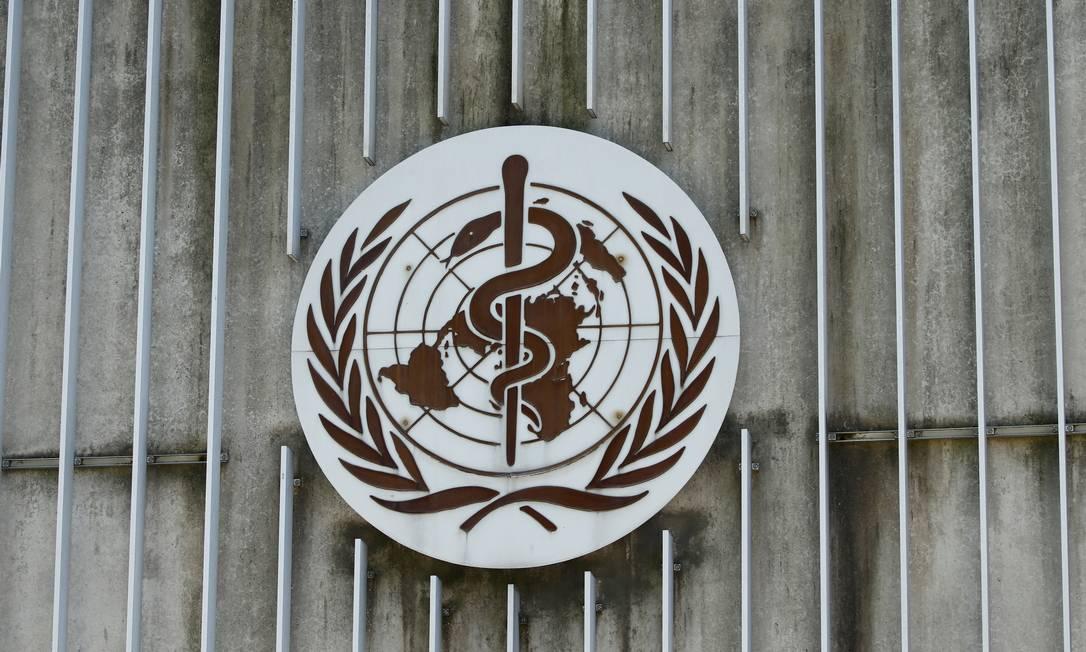 Logo da OMS na sua sede, em Genebra, na Suíça Foto: Denis Balibouse / Reuters