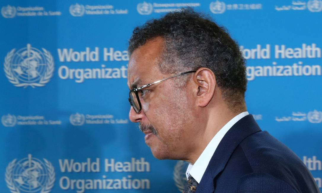 Tedros Adhanom Ghebreyesus, diretor-geral da Organização Mundial da Saúde (OMS) Foto: Denis Balibouse / Reuters