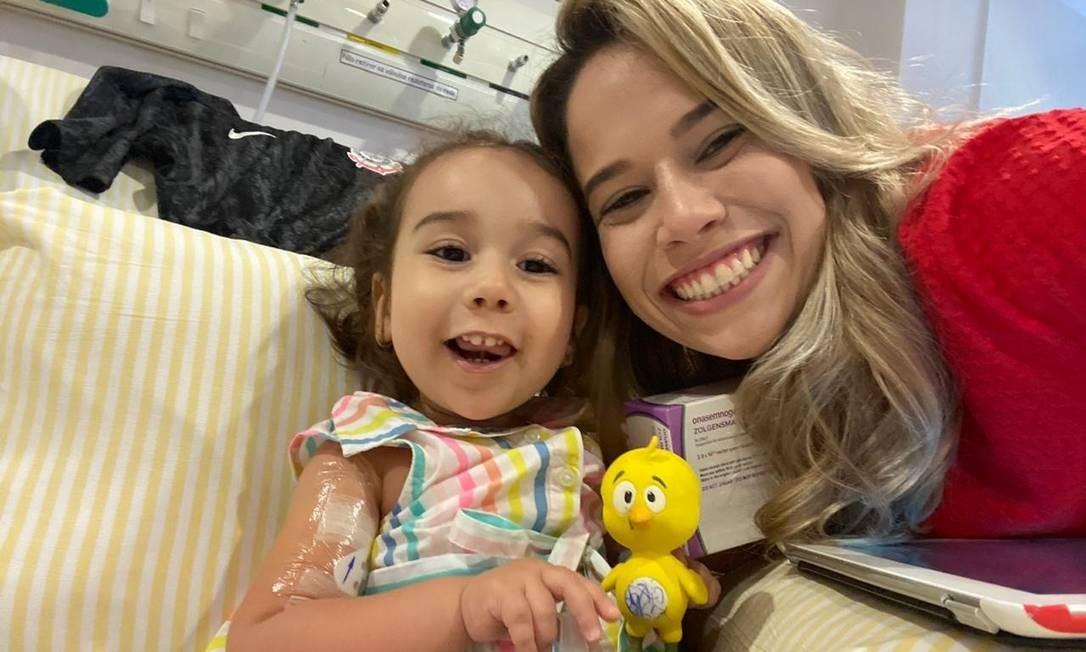 Marina Moraes de Souza Roda, de 1 ano e 11 meses, recebeu nesta sexta (7) o medicamento mais caro do mundo Foto: Divulgação