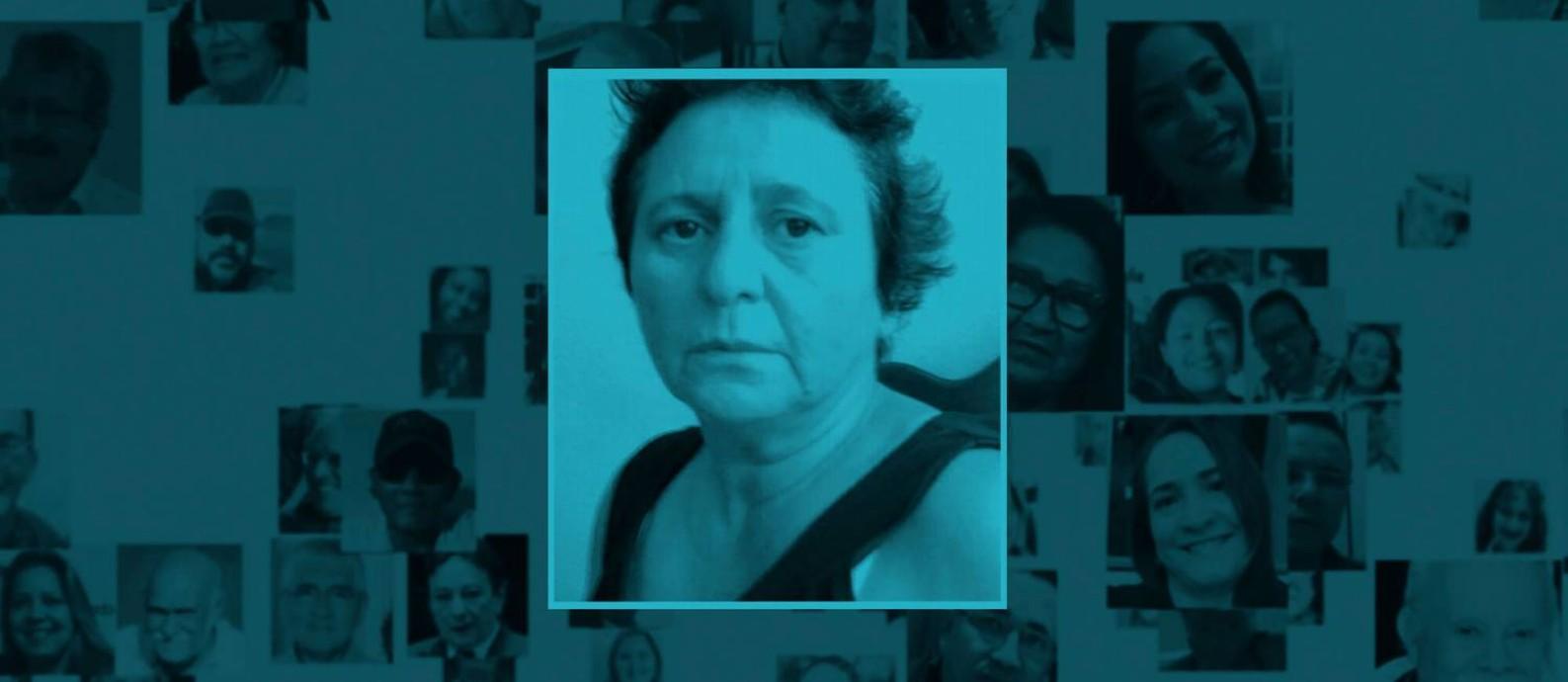 Rosana, primeira vítima fatal da Covid no Brasil Foto: Arte