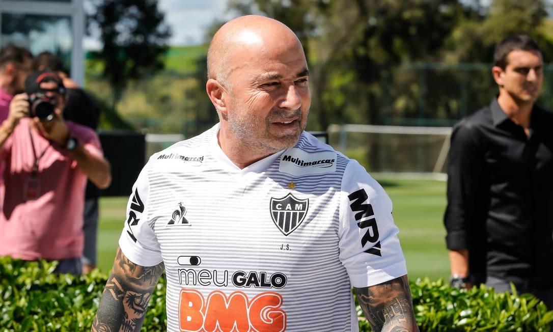 Jorge Sampaoli: vice com Santos, tem nova chance agora pelo Atlético-MG Foto: Bruno Cantini / Atlético