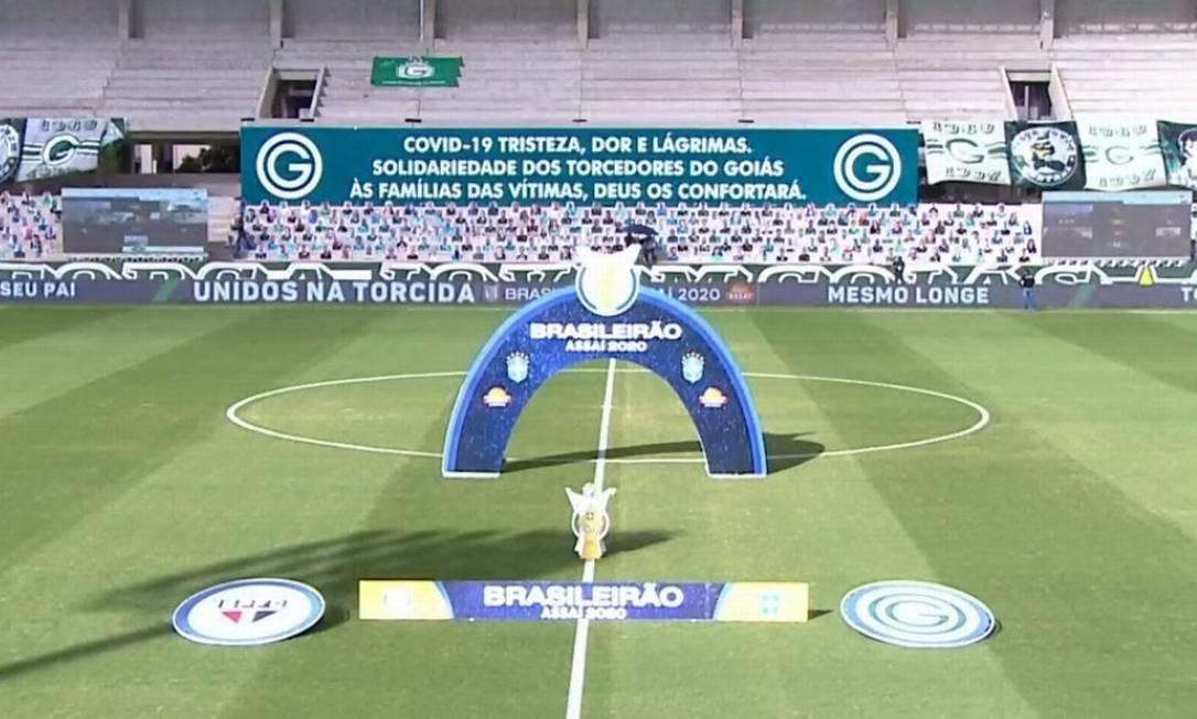 Goiás x São Paulo foi adiado Foto: Reprodução