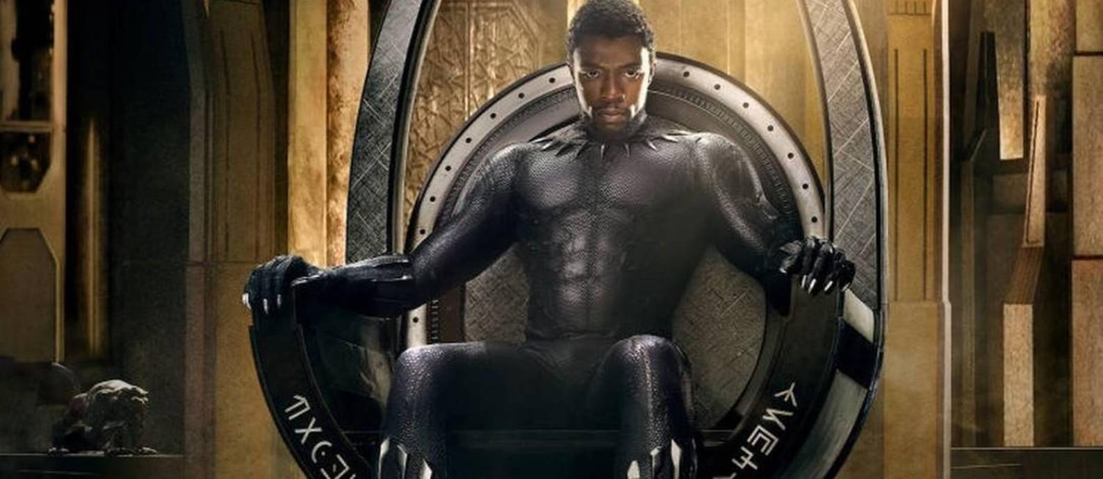 Cena do filme 'Pantera Negra', maior sucesso de Chadwick Boseman Foto: Divulgação
