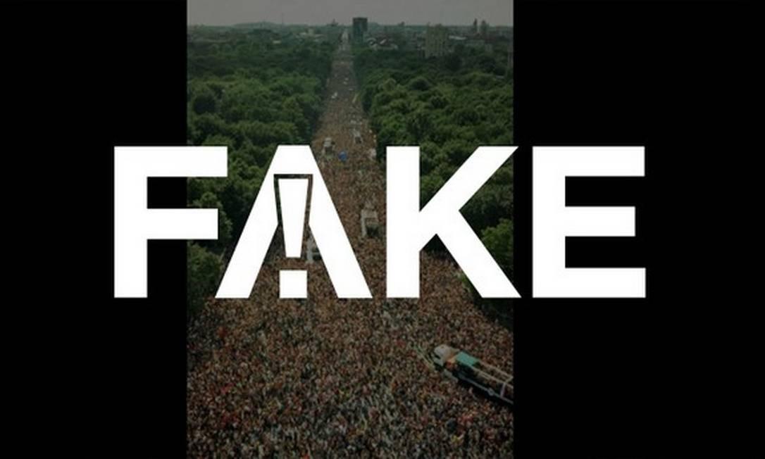 É #FAKE que foto mostre monumento de Berlim lotado em manifestação contra regras para conter Covid-19 Foto: Reprodução