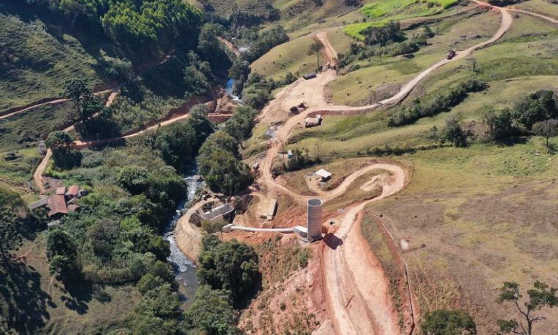 Área do Rio Aiuruoca impactada por obras de hidrelétrica Foto: SOS Rio Aiuruoca