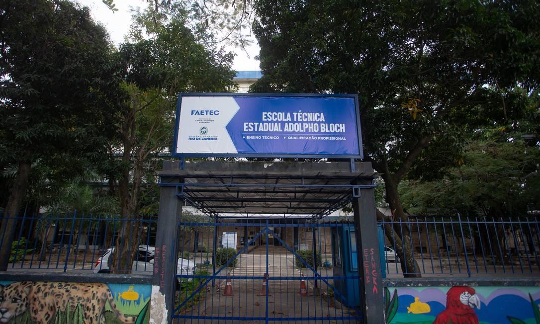 Escola Técnica estadual Adolpho Bloch, na Mangueira, Zona Norte do Rio Foto: Roberto Moreyra / Agência O Globo