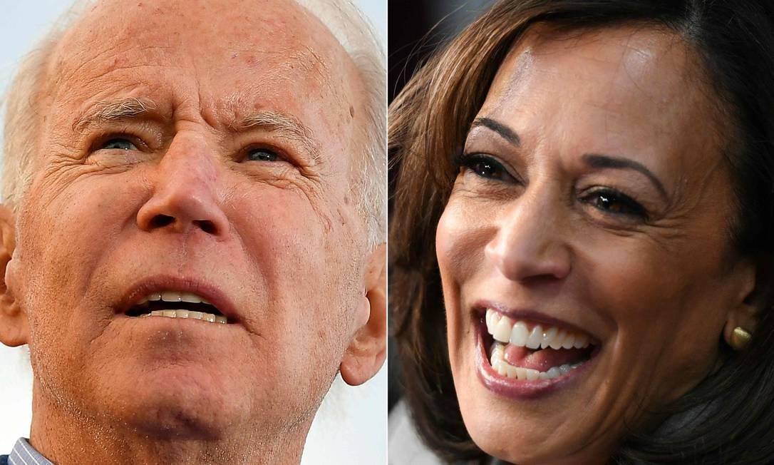 Joe Biden e Kamala Harris: segundo CNN, senadora será companheira de chapa do candidato democrata Foto: AFP