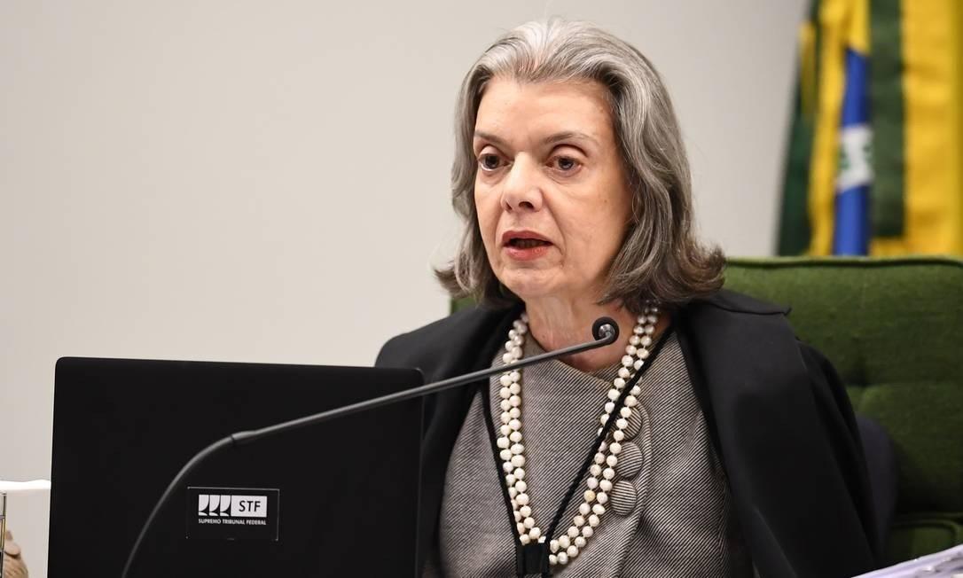 A ministra Cármen Lúcia, do Supremo Tribunal Federal (STF) Foto: EVARISTO SA / Agência O Globo