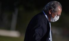O ministro da Economia, Paulo Guedes Foto: Andre Borges / Bloomberg via Getty Images