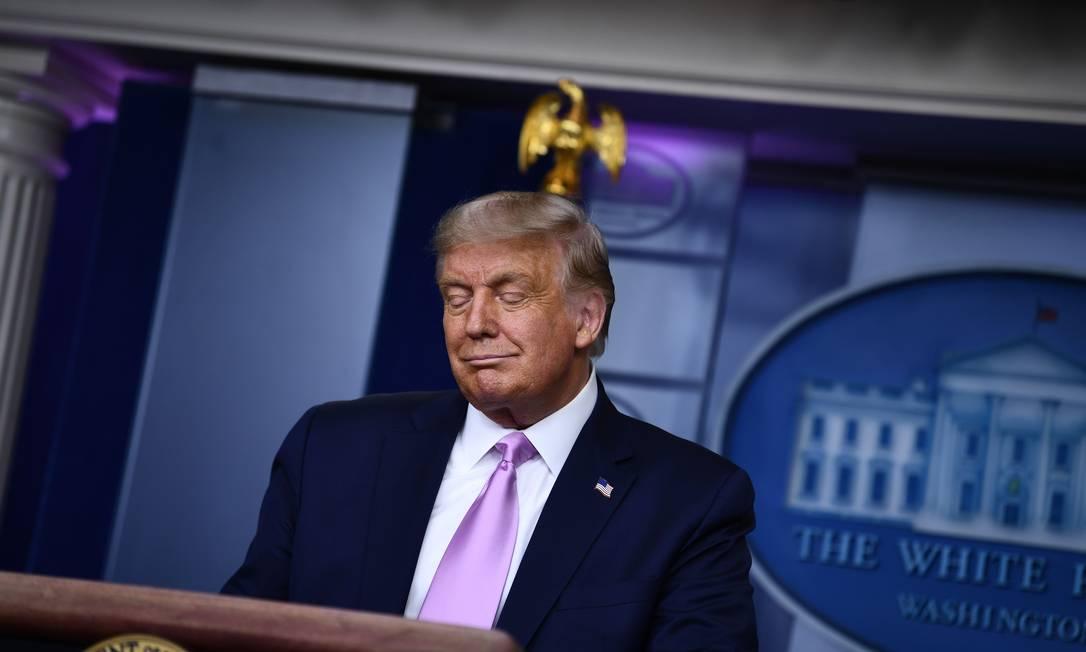 O presidente dos EUA, Donald Trump Foto: Brendan Smialowski / AFP