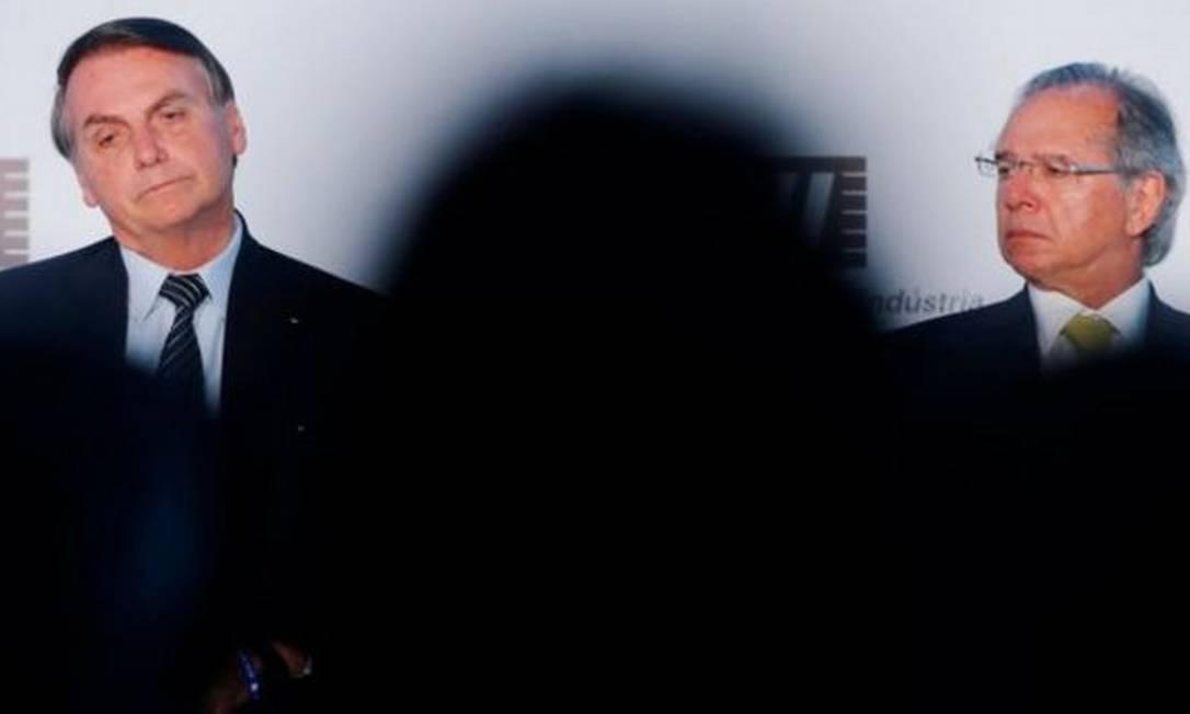 Bolsonaro e Guedes vivem afastamento crescente desde a eleição de 2018 Foto: ADRIANO MACHADO/REUTERS