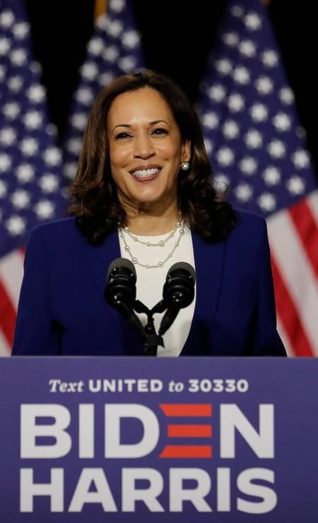 Formada em direito, Harris tem 55 anos e é senadora pela Califórnia desde 2017 Foto: CARLOS BARRIA / REUTERS