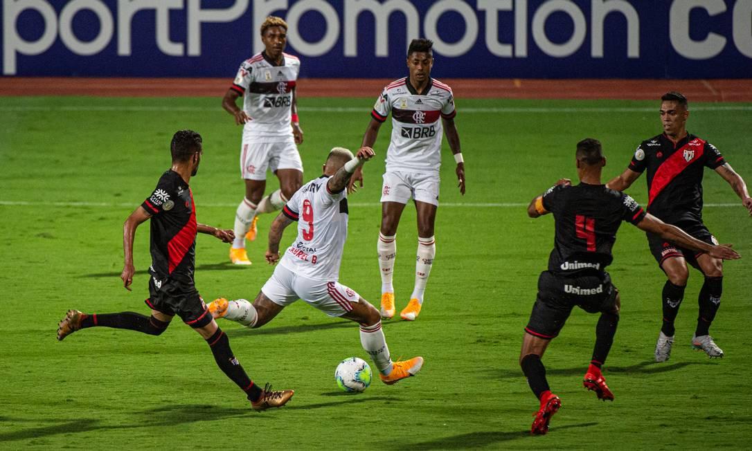 Gabigol voltou a passar em branco na derrota do Flamengo Foto: Alexandre Vidal / Flamengo