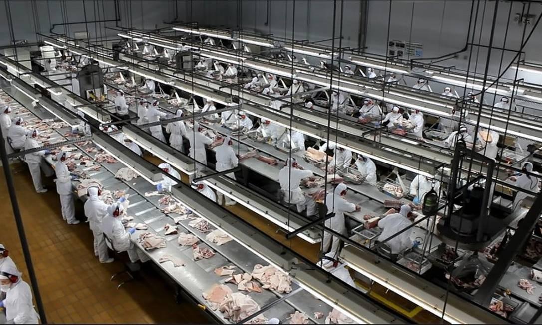 Unidade da Aurora Alimentos em Santa Catarina Foto: Reprodução