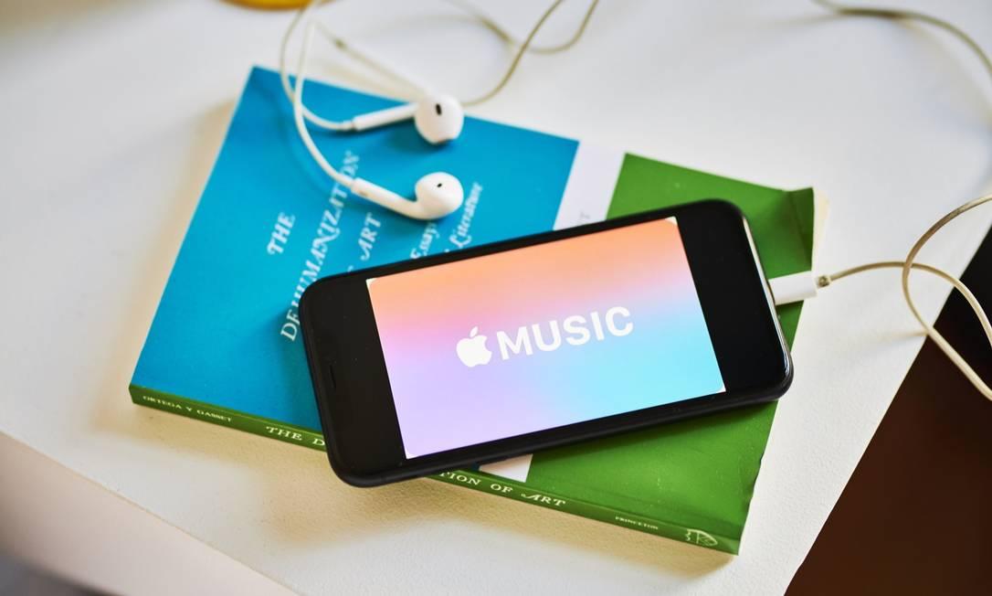 O Apple Music será um dos serviços incluídos nos pacotes Foto: Gabby Jones / Bloomberg