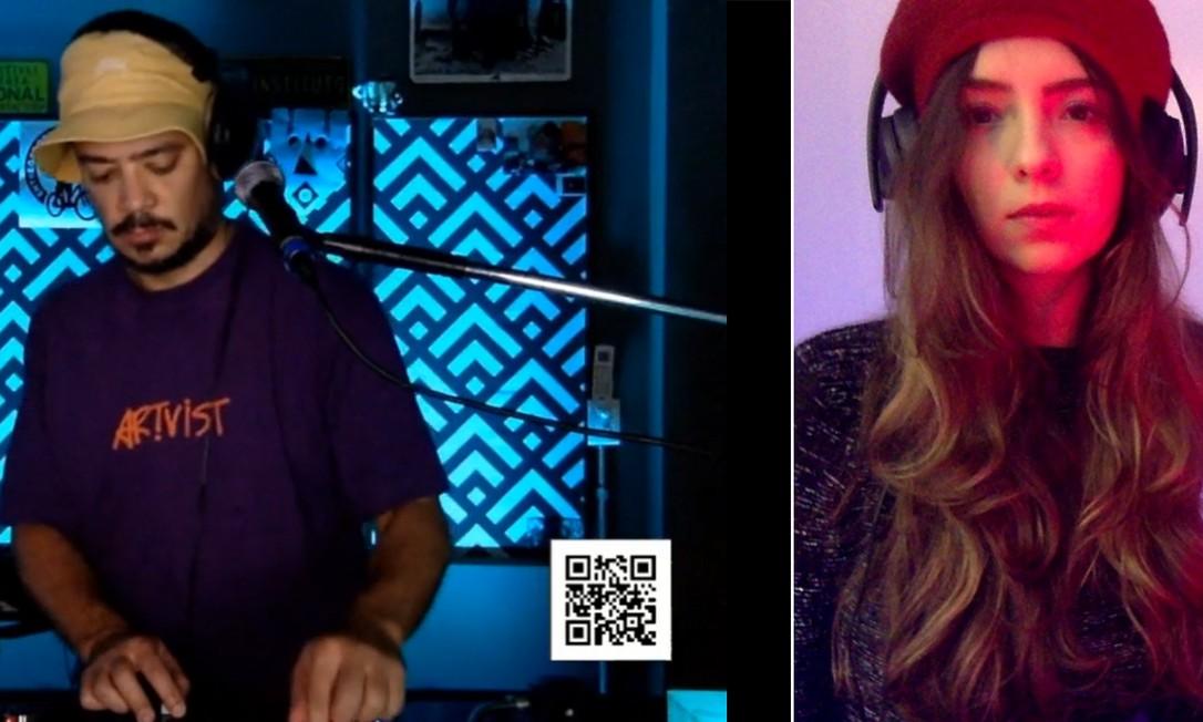 Daniel Ganjaman e Julia Weck, DJs que criam iniciativas na Twitch Foto: Reprodução e arquivo pessoal