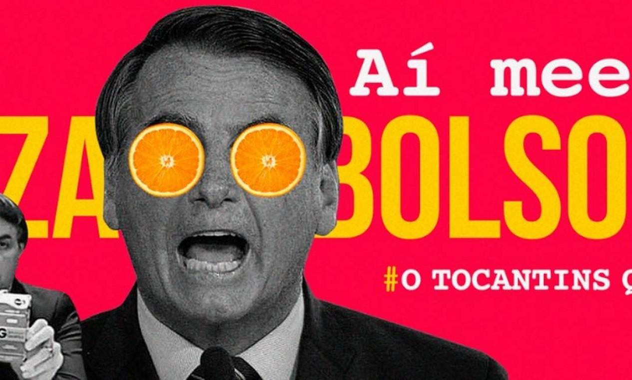 'Fora Bolsonaro' estampa outdoors em Palmas, no Tocantins Foto: Reprodução