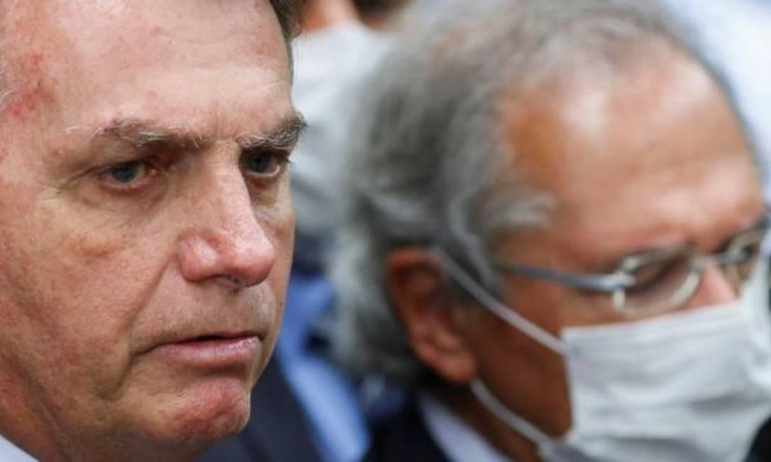 O presidente Jair Bolsonaro e o ministro Paulo Guedes Foto: Reuters