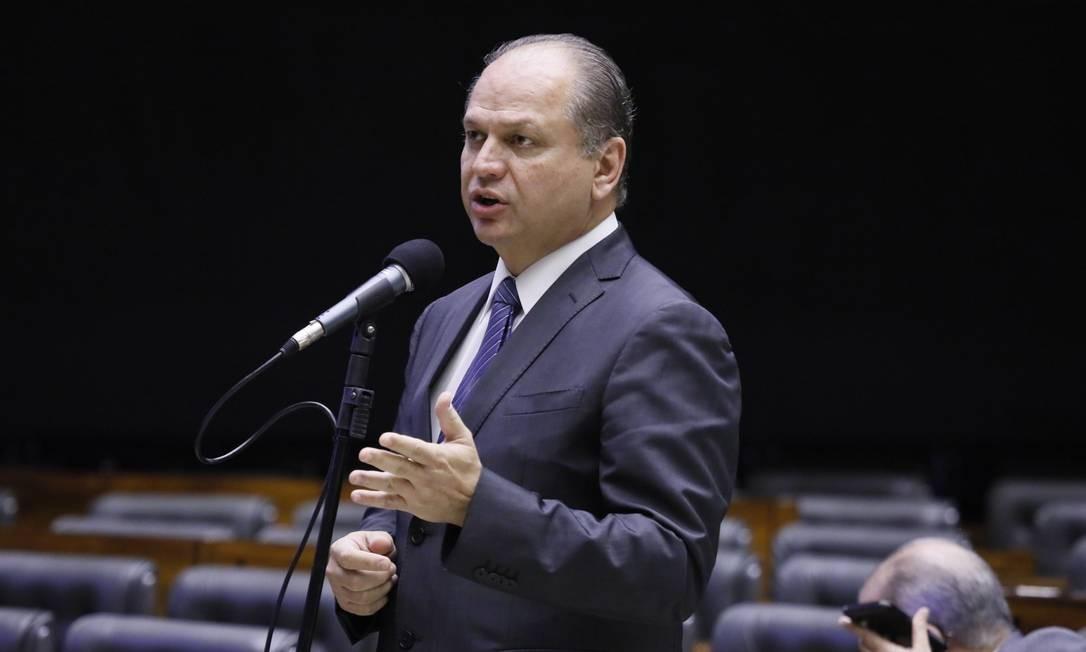 O deputado Ricardo Barros, durante sessão na Câmara Foto: Luis Macedo/Câmara dos Deputados/02-04-2020