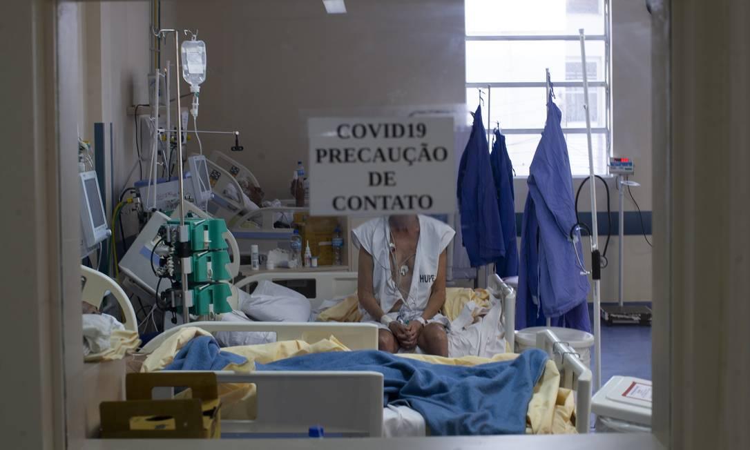 Enfermaria exclusiva para pacientes com Covid-19 no Hospital Universitário Pedro Ernesto, no Rio Foto: Marcia Foletto / Agência O Globo
