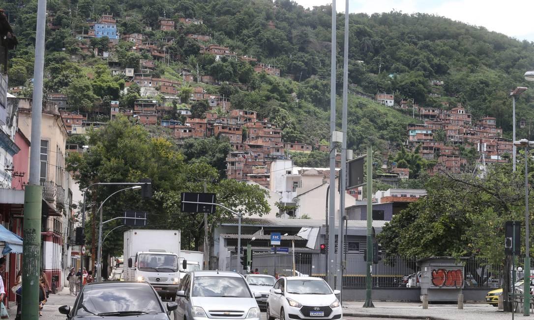 Morro dos Macacos, em Vila Isabel, Zona Norte do Rio Foto: Guilherme Pinto / Agência O Globo