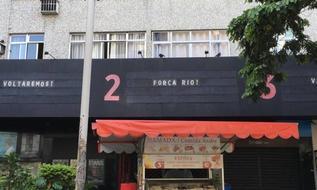 Estação Botafogo - Letreiro com mensagem otimista, e preocupação nos bastidores: diretora fez desabafo nas redes Foto: Reprodução