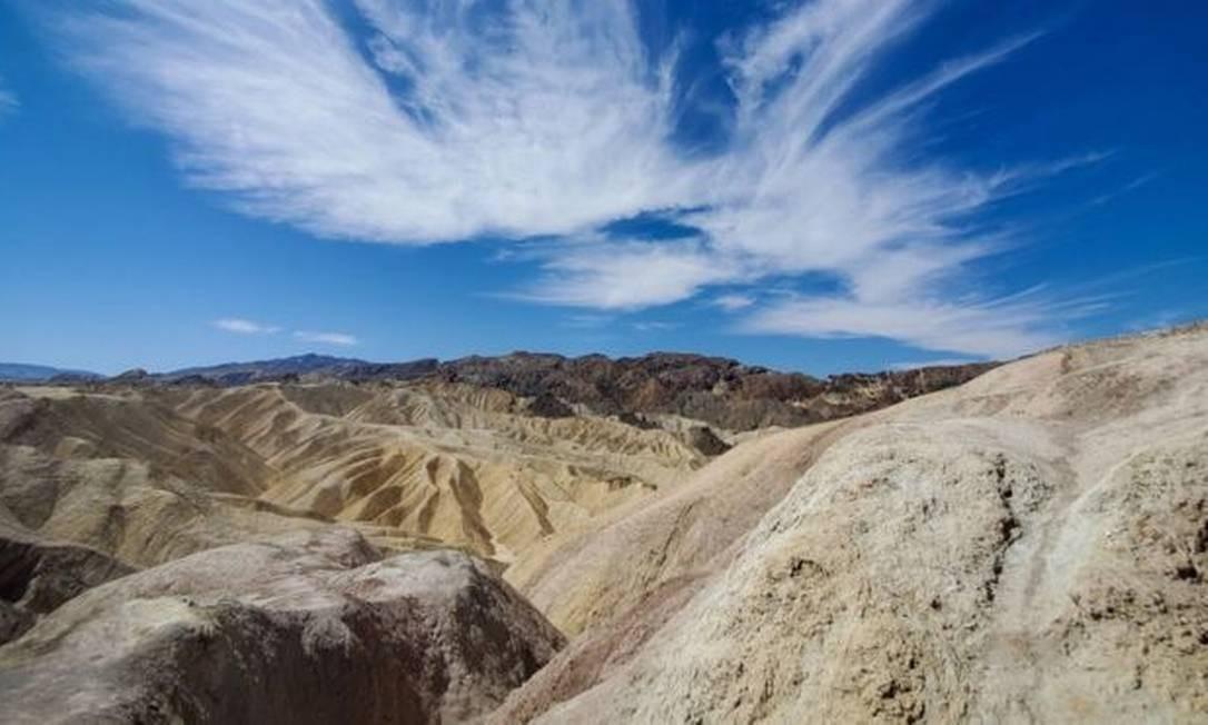 Vale da Morte, na Califórnia, pode ter atingido o recorde global de temperatura mais quente Foto: Getty Images