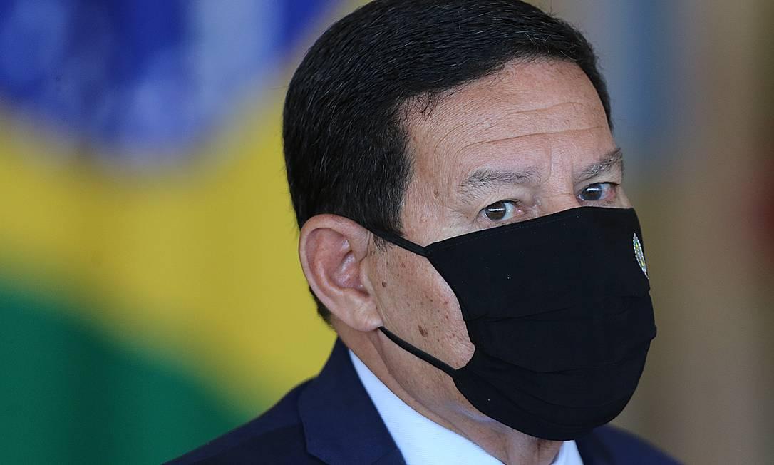 O vice-presidente da República, Hamilton Mourão Foto: Jorge William / Agência O Globo
