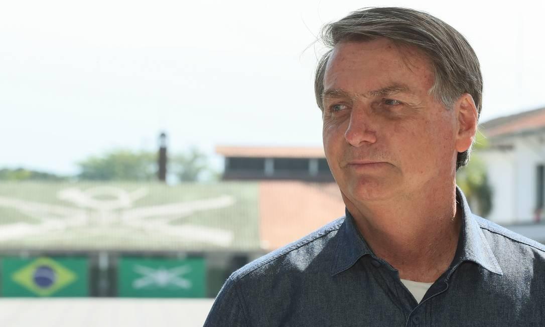 O presidente Jair Bolsonaro, durante visita a São Vicente Foto: Isac Nóbrega / Presidência/07-08-2020