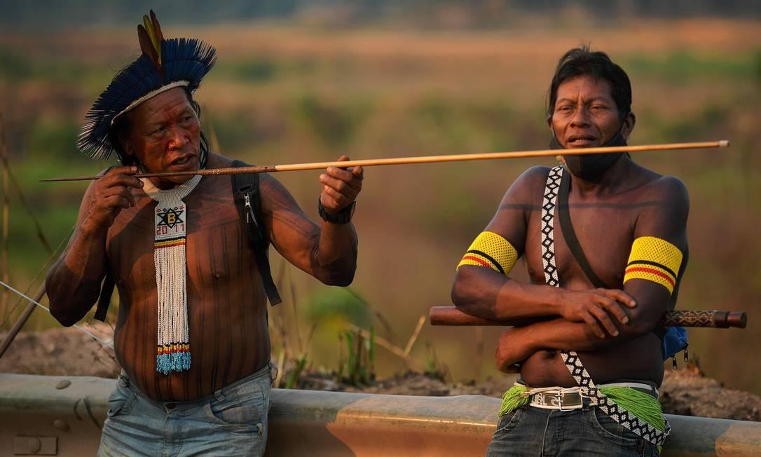 Apesar do governo afirmar que a situação da pandemia está sob controle, as aldeias das duas Terras Indígenas receberam pouco mais de 700 cestas básicas para mais de 400 famílias entre março e agosto Foto: CARL DE SOUZA / AFP