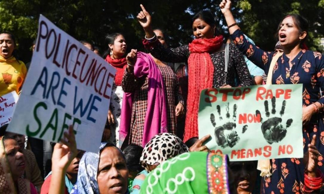 Estupro seguido de assassinato de menina de 13 anos provocou protestos na Índia Foto: Reprodução
