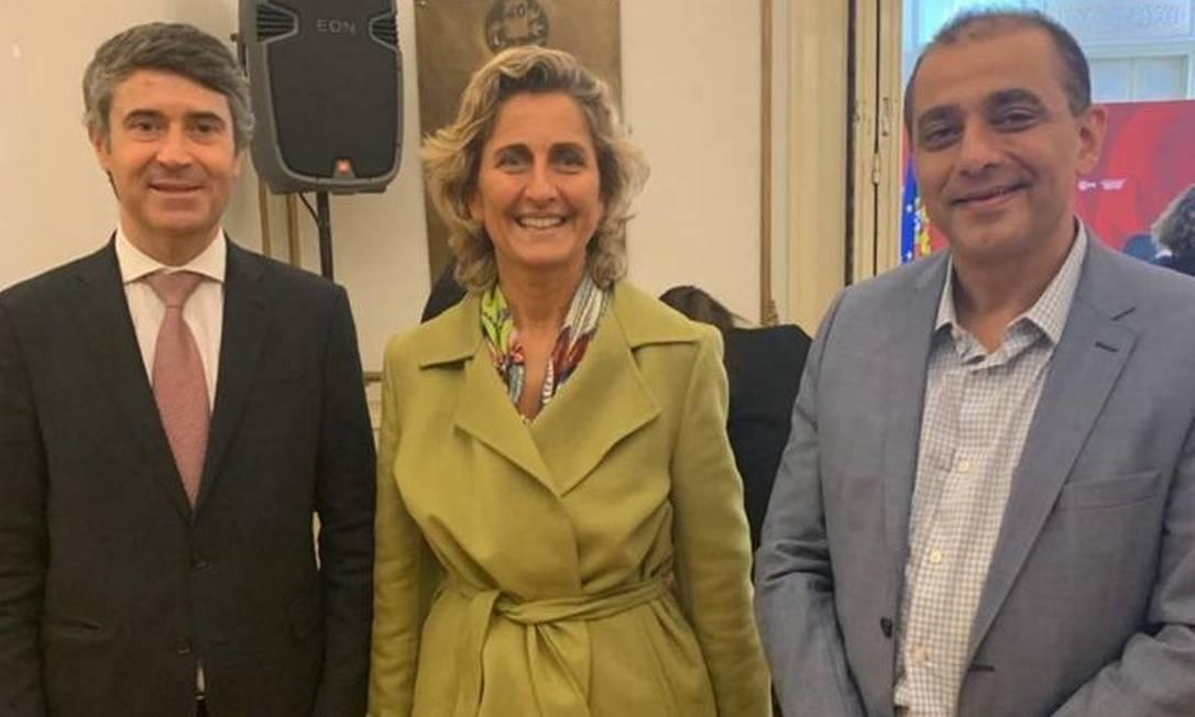 Edmar Santos (D) com a ministra da Coesão Territorial, Ana Abrunhosa, em Portugal Foto: Reprodução/Instagram