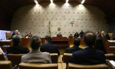 O plenário do Supremo Tribunal Federal, em Brasília Foto: Jorge William / Agência O Globo