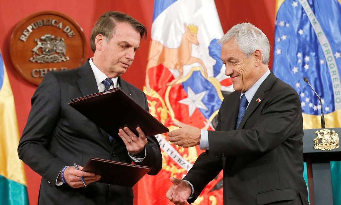Em março do ano passado, os governo do Brasil e do Chile sinalizaram que iriam retomar esforços para a aprovação do acordo Foto: RODRIGO GARRIDO / Reuters