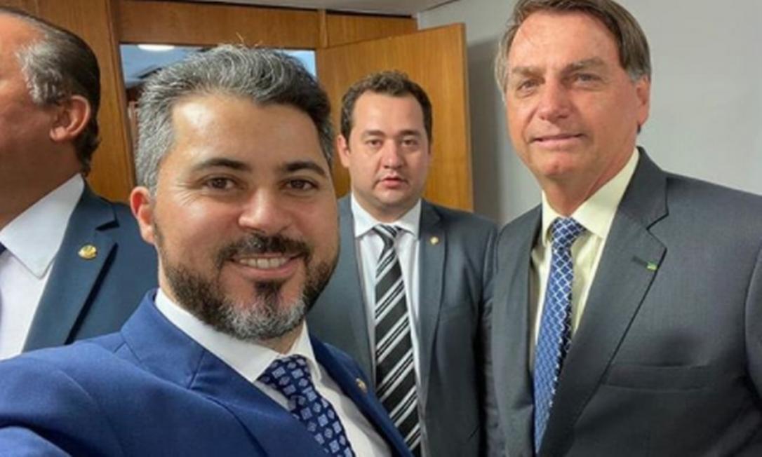 Senador Marcos Rogério e o presidente Jair Bolsonaro Foto: Reprodução