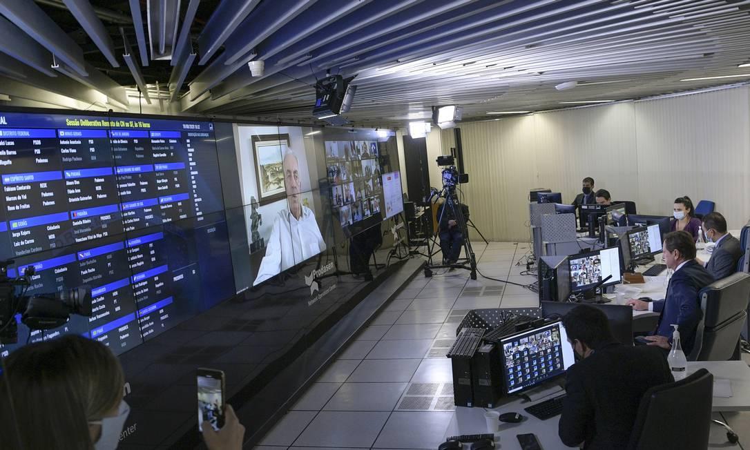 Sessão remota do Congresso Nacional Foto: Pedro França / Agência Senado