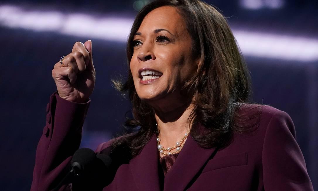 Senadora americana e candidata à vice-presidência dos EUA Kamala Harris Foto: KEVIN LAMARQUE / REUTERS