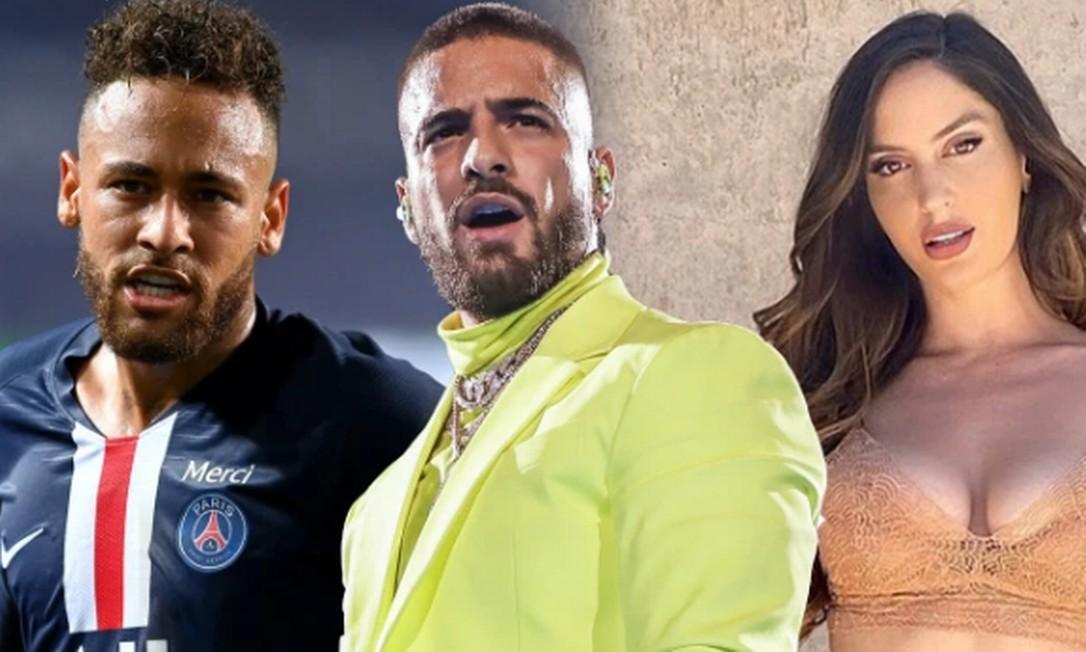 Neymar, Maluma e Natalia tem dado o que falar nas redes Foto: Getty Images/ Instagram