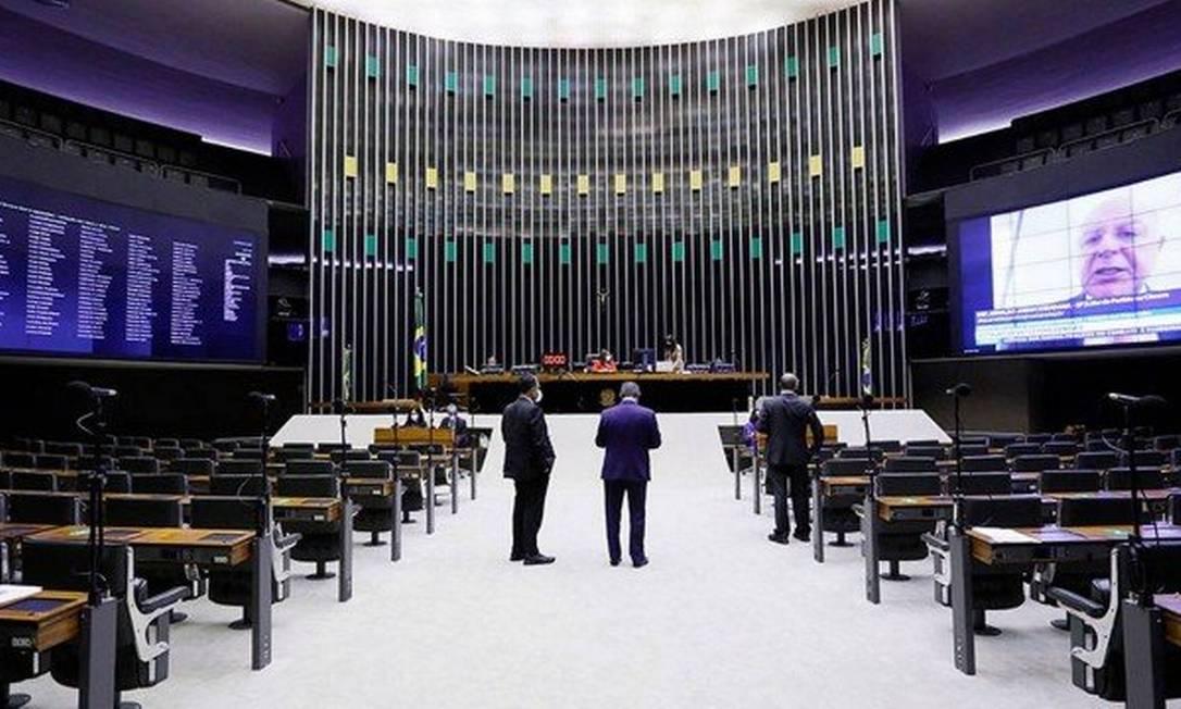 Plenário da Câmara dos Deputados: Maia costurou acordo com Centrão para barrar aumento Foto: Agência Câmara