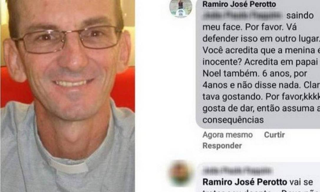 Padre insultou criança vítima de estupro Foto: Reprodução