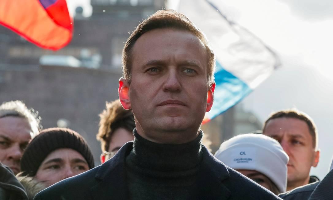 Alexei Navalny participa de protesto em Moscou Foto: Shamil Zhumatov / REUTERS/29-02-2020