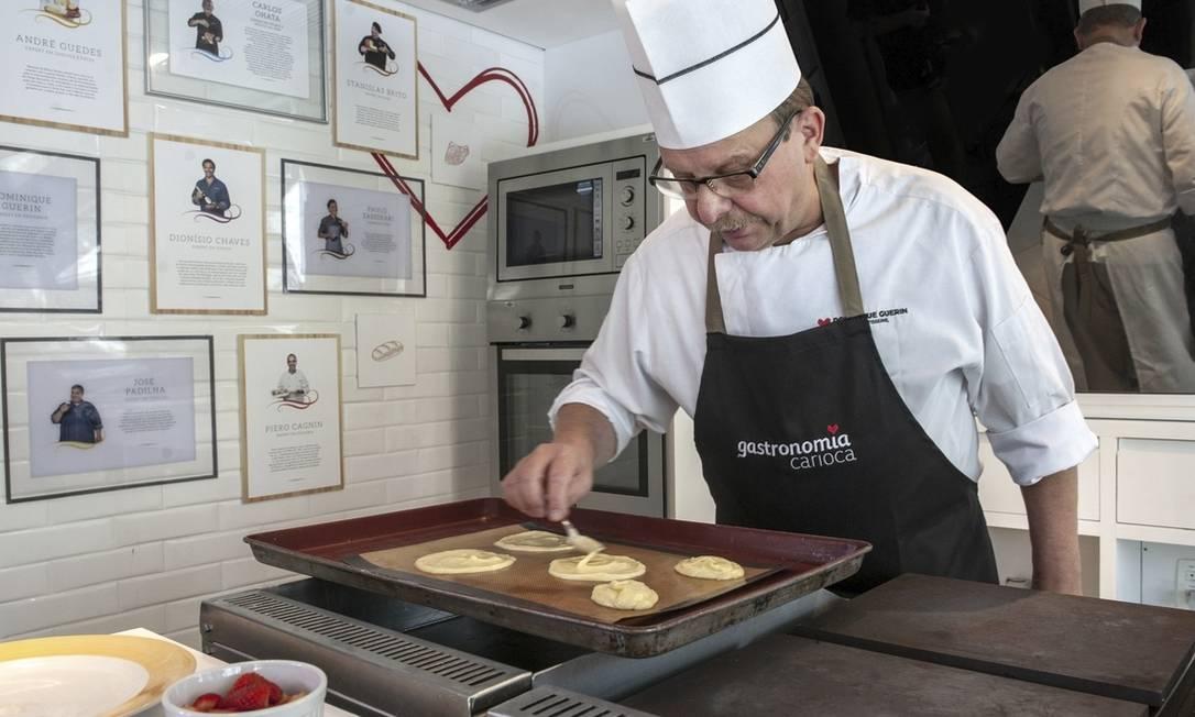 Dominique Guerin. Sexta e sábado, o francês ensinará a fazer sobremesas Foto: Divulgação/Fernando Mafra