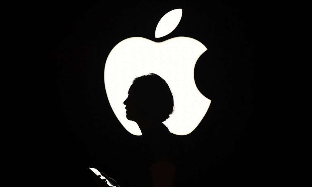 Repórter cobrindo evento da Apple em São Francisco: críticas da imprensa à gigante. Foto: JOSH EDELSON / AFP