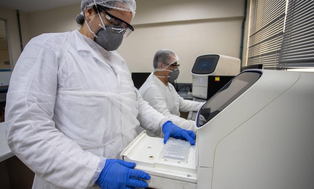 O Centro de Inovação SESI de Higiene Ocupacional, no Maracanã, é responsável pela análise das amostras dos testes COVID em conjunto com a UFRJ Foto: Divulgação
