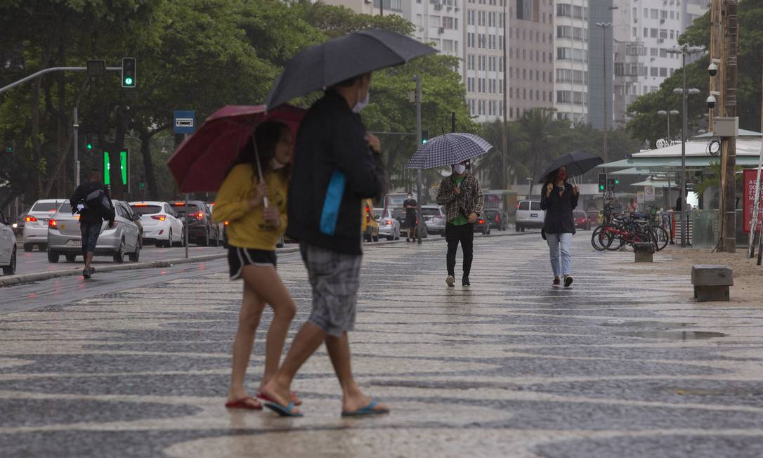 Frente fria mudou a paisagem no Rio no fim de semana - 21-08-20 Foto: Gabriel Monteiro / Agência O Globo